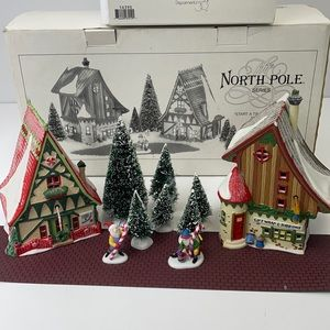 Department 56 set of 12 items North Pole Series
